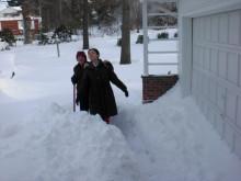 ピアノの道-86歳の保護者と雪かき、楽しい!