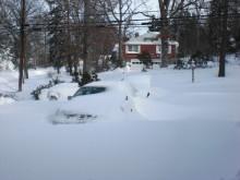 ピアノの道-記録的大雪です。