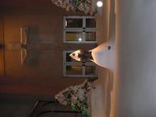 ピアノの道-NY,32丁目の教会。雪化粧できれい